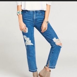 Show Me Your Mumu Blue Distressed Brooklyn Jeans